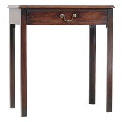 Georgian Mahogany Side Table, English, Simple Design, Small, Early 19th Century