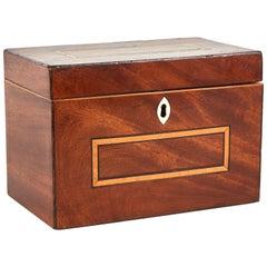 Georgian Mahogany Tea Caddy Box from England, circa 1825