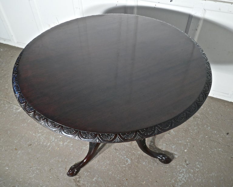 Georgian Mahogany Tilt-Top Table, Bird Cage Wine Table For Sale 1