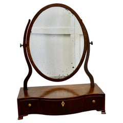 Georgian Mahogany Toilet or Vanity Mirror