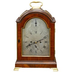 Georgian Mahogany Verge Bracket Clock by George Turner, Honiton