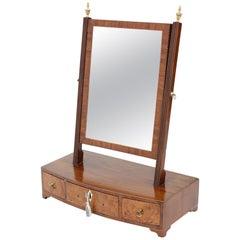 Georgian Mahogany Walnut Dressing Table Swing Mirror