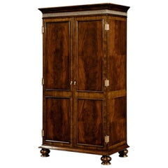 Georgian Mahogany Wardrobe Armoire
