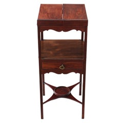 Georgian Mahogany Washstand Bedside Table