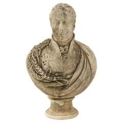 Georgian Marble Bust of Baronet Montagu Roger Burgoyne