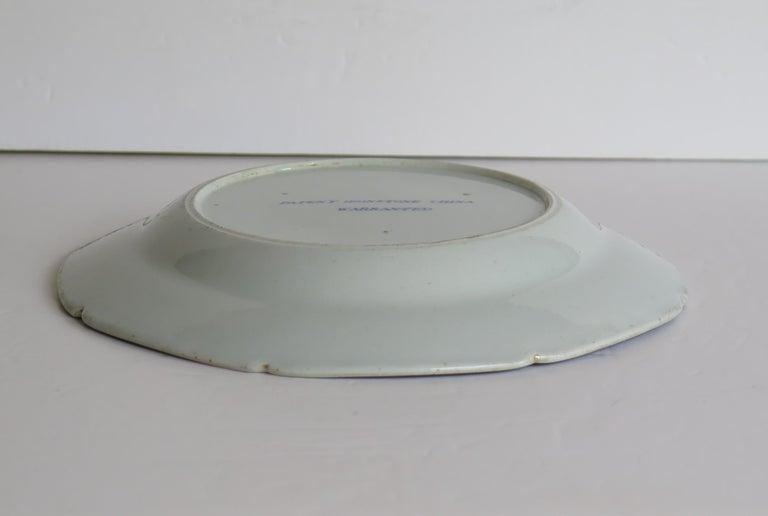 Georgian Mason's Ironstone Dish or Plate in Bamboo & Basket Pattern, circa 1817 For Sale 4