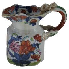 Georgian Mason's Ironstone Jug or Creamer in Vase & Jardiniere Ptn, circa 1817