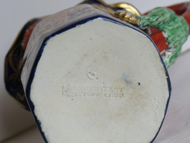 Georgian Mason's Ironstone Jug or Pitcher in School House Pattern, circa 1817 For Sale 9