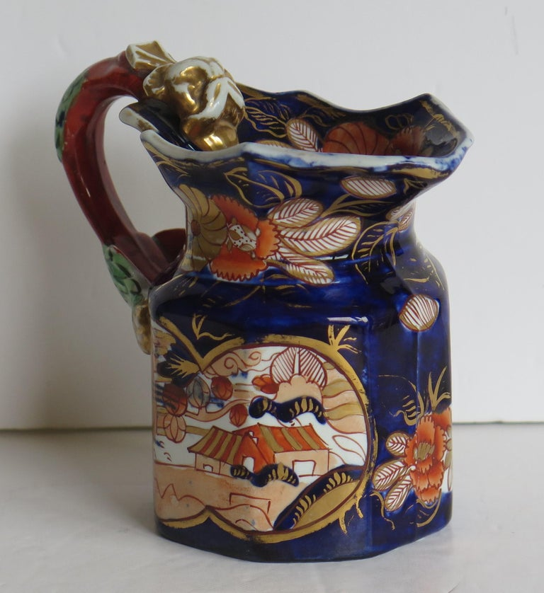 Georgian Mason's Ironstone Jug or Pitcher in School House Pattern, circa 1817 In Good Condition For Sale In Lincoln, Lincolnshire