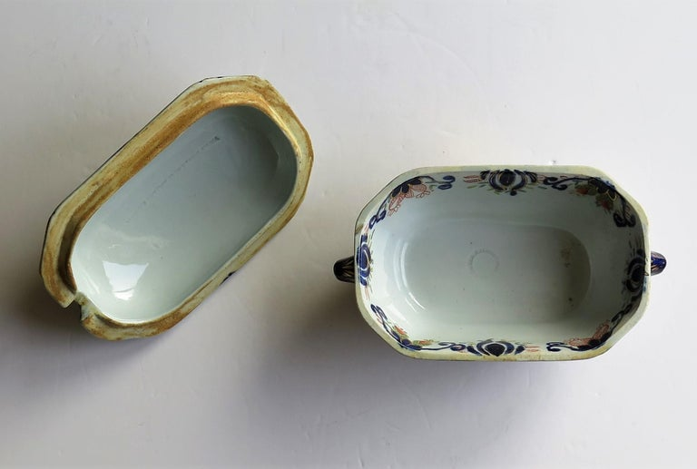Georgian Mason's Ironstone Sauce Tureen and Cover Gilded Rose Japan Pattern For Sale 10