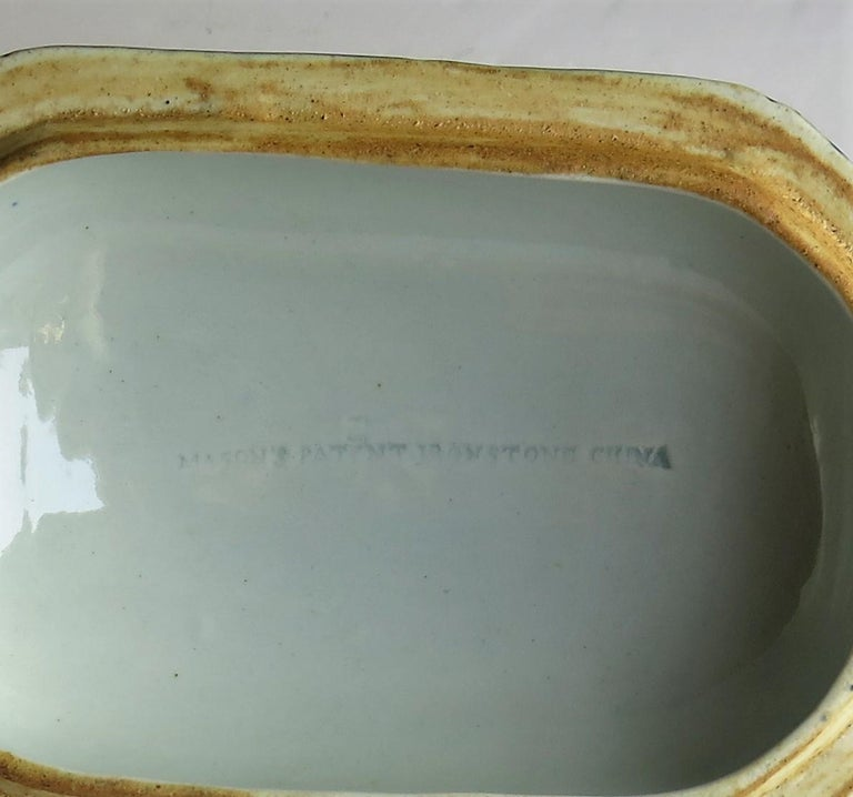 Georgian Mason's Ironstone Sauce Tureen and Cover Gilded Rose Japan Pattern For Sale 12