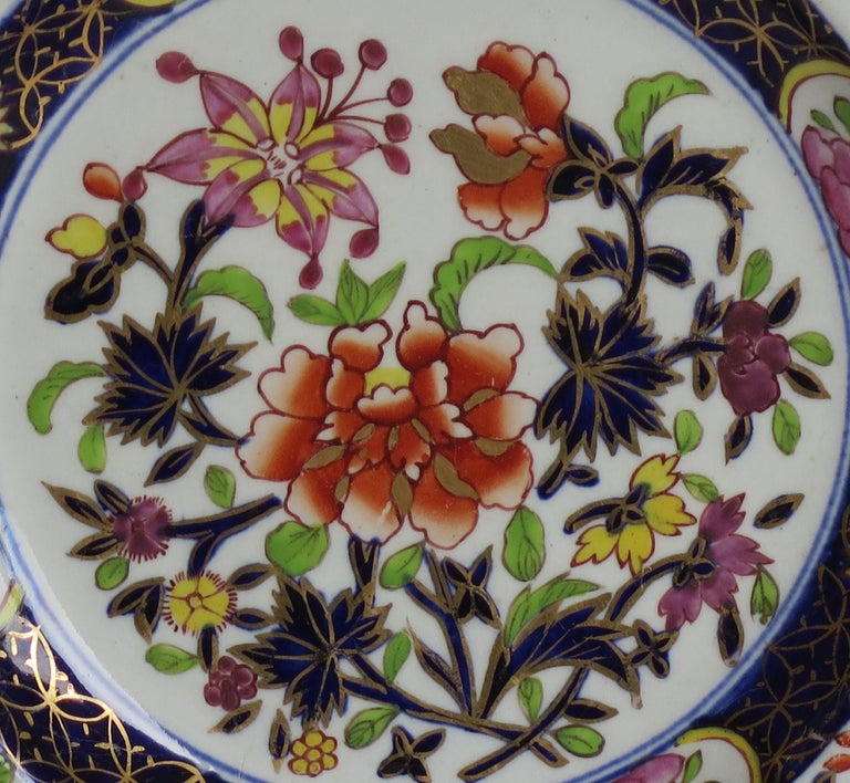 Georgian Mason's Ironstone Side Plate in Heavily Floral Japan Ptn, Circa 1815 For Sale 5