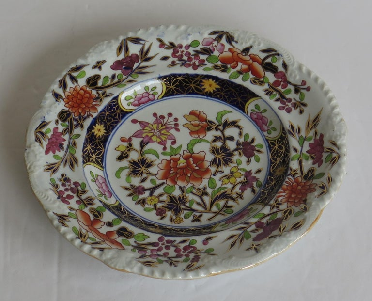 Georgian Mason's Ironstone Side Plate in Heavily Floral Japan Ptn, Circa 1815 For Sale 6