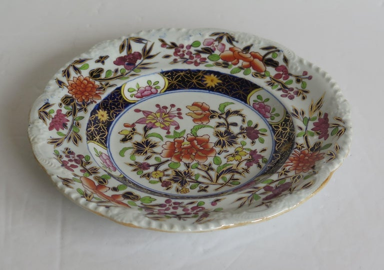 Georgian Mason's Ironstone Side Plate in Heavily Floral Japan Ptn, Circa 1815 For Sale 7