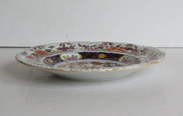 Georgian Mason's Ironstone Side Plate in Heavily Floral Japan Ptn, Circa 1815 For Sale 8