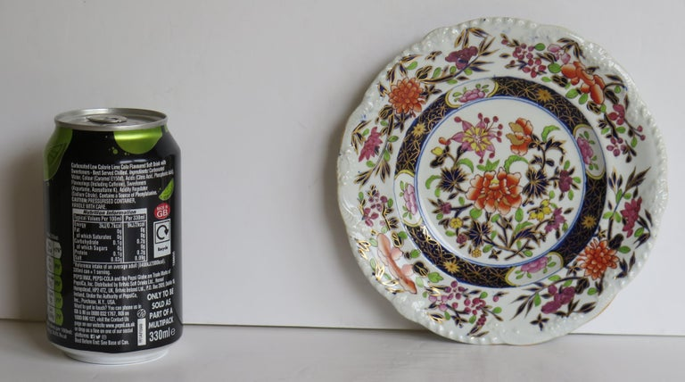 Georgian Mason's Ironstone Side Plate in Heavily Floral Japan Ptn, Circa 1815 For Sale 14