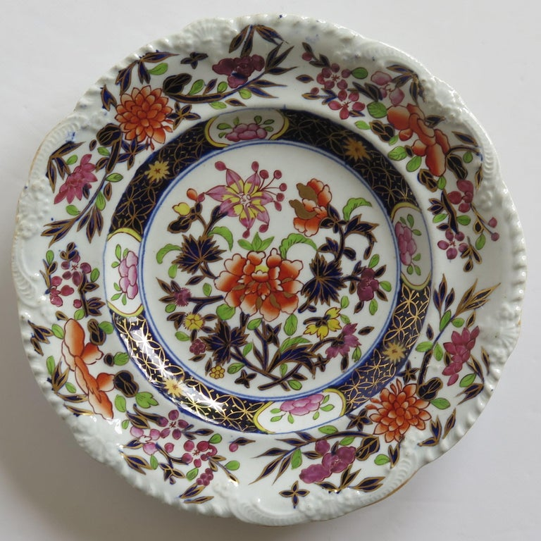 Georgian Mason's Ironstone Side Plate in Heavily Floral Japan Ptn, Circa 1815 In Good Condition For Sale In Lincoln, Lincolnshire