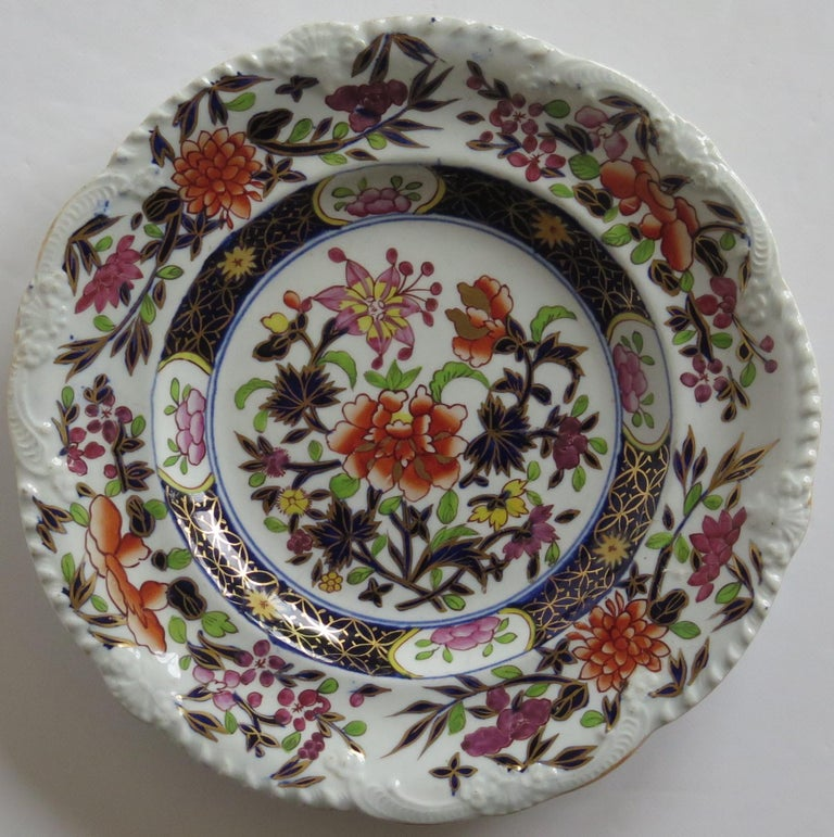 19th Century Georgian Mason's Ironstone Side Plate in Heavily Floral Japan Ptn, Circa 1815 For Sale
