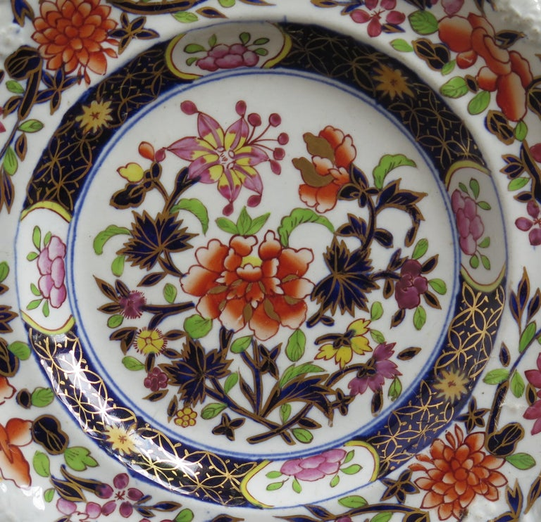 Georgian Mason's Ironstone Side Plate in Heavily Floral Japan Ptn, Circa 1815 For Sale 1
