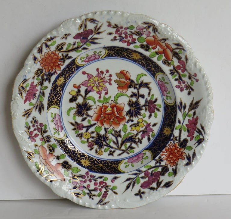 Georgian Mason's Ironstone Side Plate in Heavily Floral Japan Ptn, Circa 1815 For Sale 2