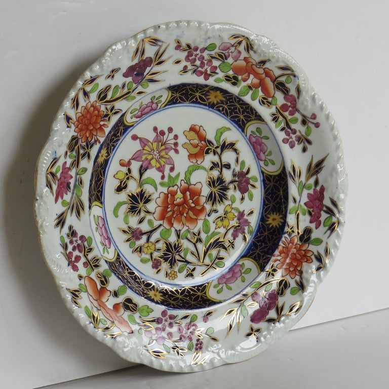 Georgian Mason's Ironstone Side Plate in Heavily Floral Japan Ptn, Circa 1815 For Sale 3