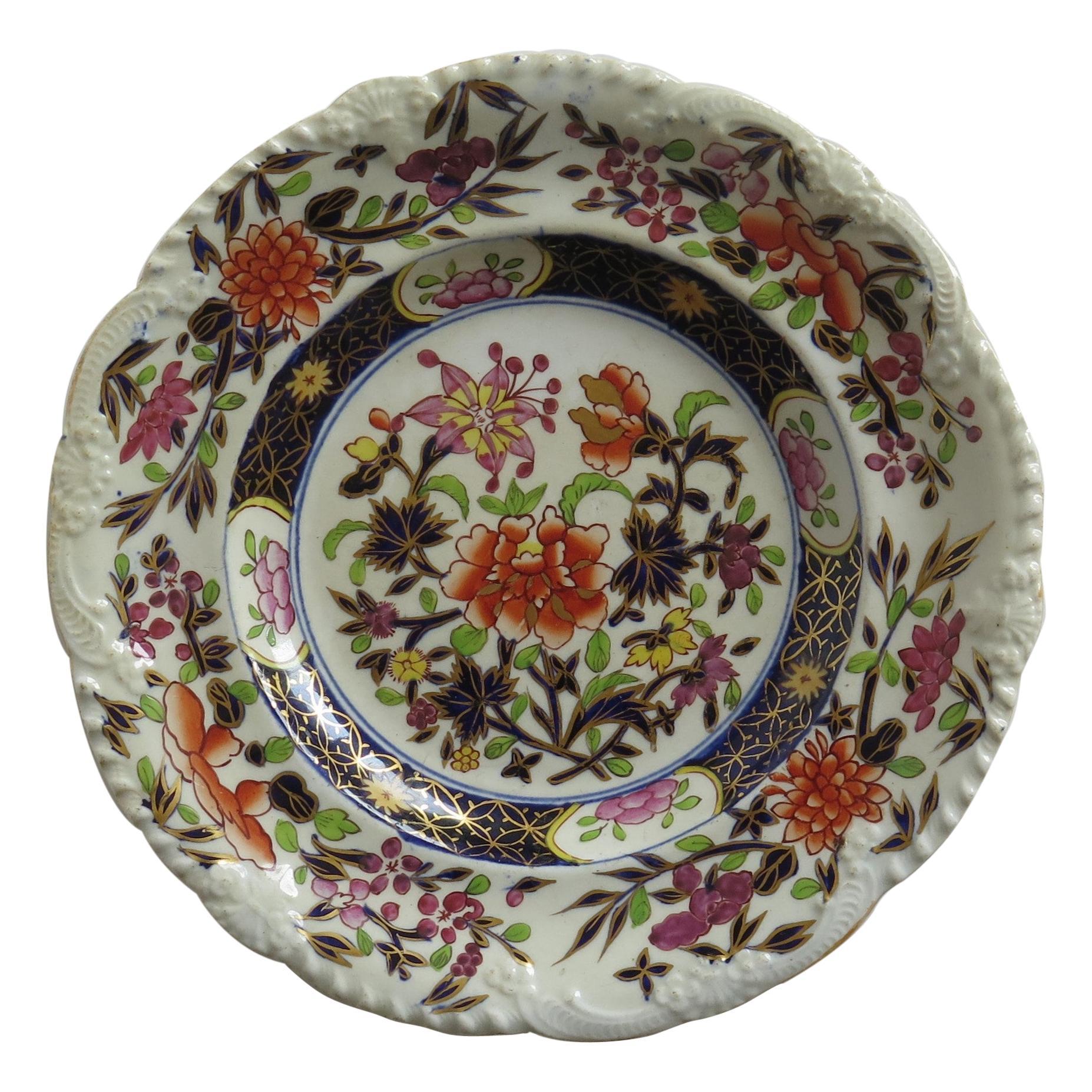 Georgian Mason's Ironstone Side Plate in Heavily Floral Japan Ptn, Circa 1815