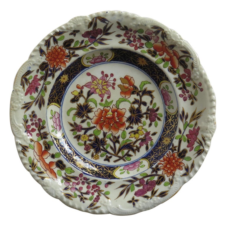 Georgian Mason's Ironstone Side Plate in Heavily Floral Japan Ptn, Circa 1815 For Sale