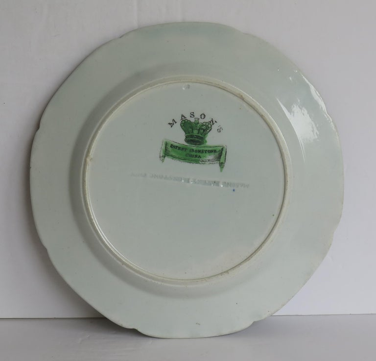 Georgian Mason's Ironstone Side Plate in Table and Flower Pot Pattern, Ca 1818 For Sale 3