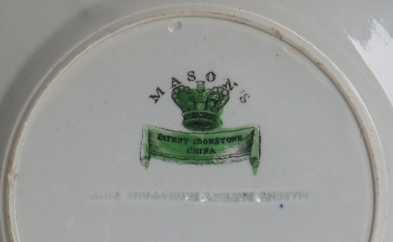 Georgian Mason's Ironstone Side Plate in Table and Flower Pot Pattern, Ca 1818 For Sale 7
