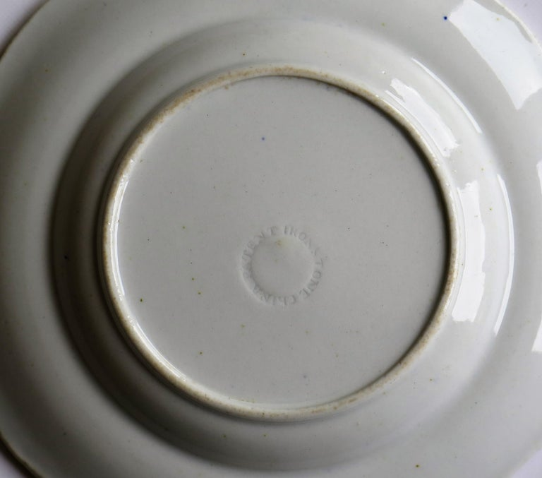 Georgian Mason's Ironstone Side Plate in Vase & Rock gilded pattern, circa 1815 For Sale 3
