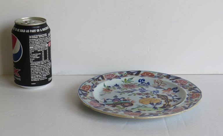 Georgian Mason's Ironstone Side Plate Small Vase Flowers & Rock Ptn, circa 1815 For Sale 7