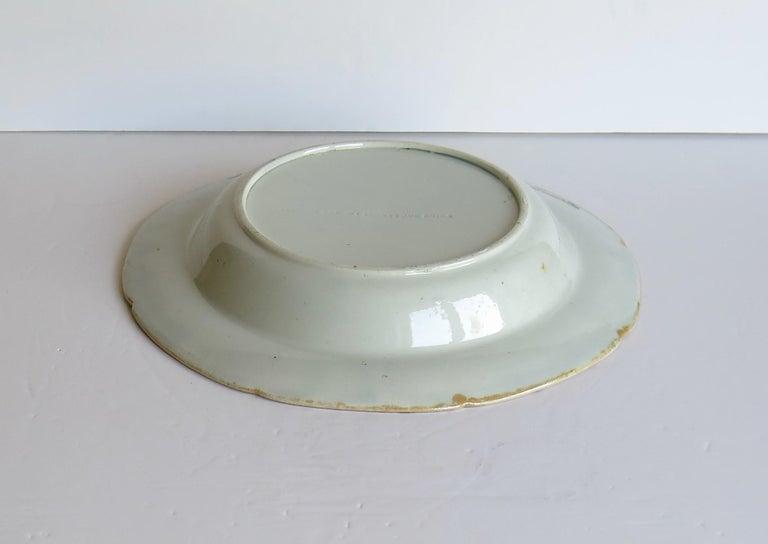 Georgian Mason's Ironstone Soup Bowl or Plate in Rare Rose Japan Ptn, circa 1815 7