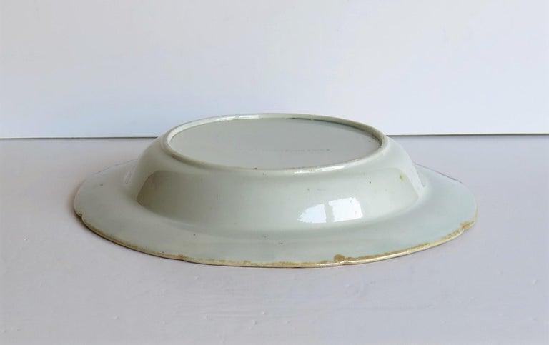 Georgian Mason's Ironstone Soup Bowl or Plate in Rare Rose Japan Ptn, circa 1815 8