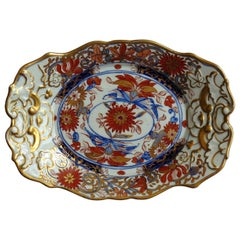 Georgian Mason's Ironstone Sweetmeat Dish in Stylized Chrysanthemum Pattern