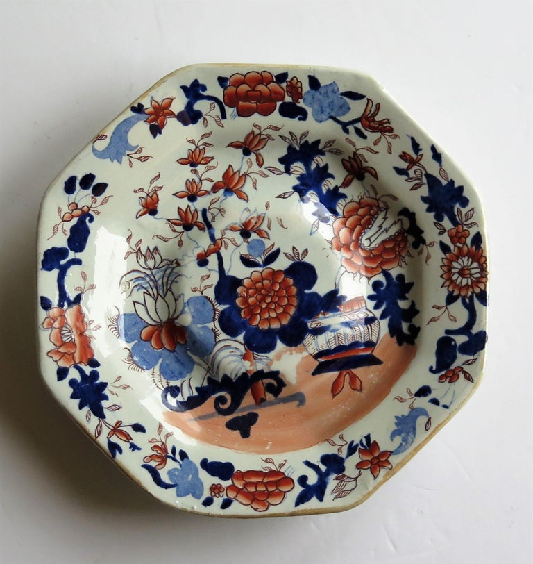 Georgian Mason's Ironstone Tureen and Lid and Stand Japan Basket Pattern, C 1820 For Sale 4