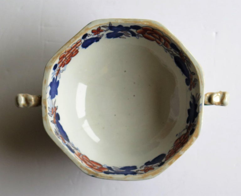 Georgian Mason's Ironstone Tureen and Lid and Stand Japan Basket Pattern, C 1820 For Sale 6
