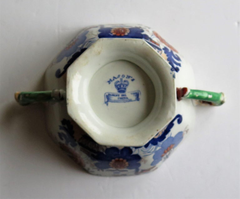 Georgian Mason's Ironstone Tureen and Lid and Stand Japan Basket Pattern, C 1820 For Sale 7