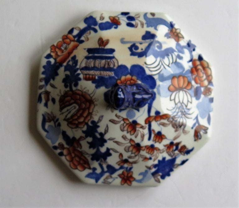 Georgian Mason's Ironstone Tureen and Lid and Stand Japan Basket Pattern, C 1820 For Sale 8