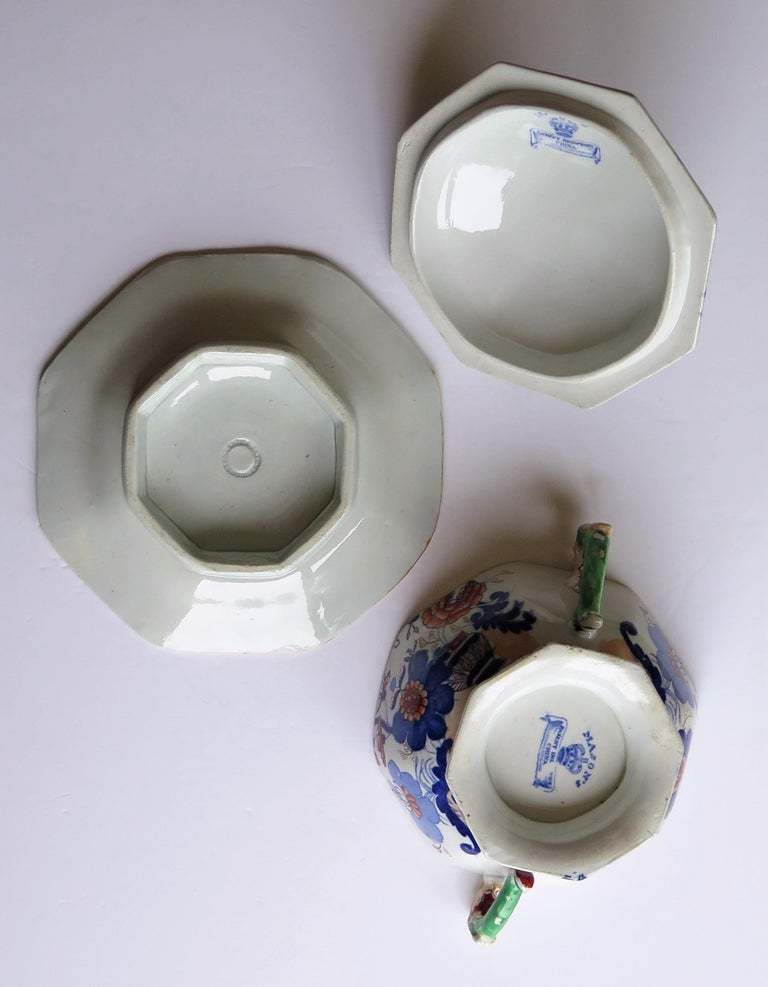 Georgian Mason's Ironstone Tureen and Lid and Stand Japan Basket Pattern, C 1820 For Sale 12