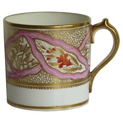Georgian Miles Mason Coffee Can Porcelain Hand Painted Ptn 483, circa 1805