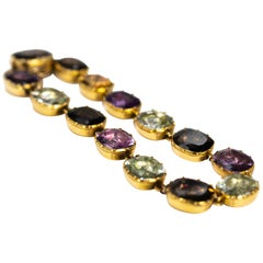 Georgian Multi-Stone 15 Carat Gold Bracelet