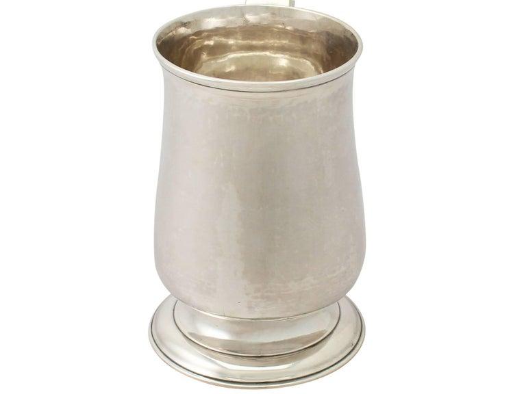 George III Georgian Newcastle English Sterling Silver Pint Mug For Sale