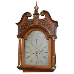 Georgian Oak and Mahogany Longcase Clock by John Scott, Edinburgh