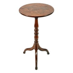 Georgian Oak Candle Stand, 19th Century