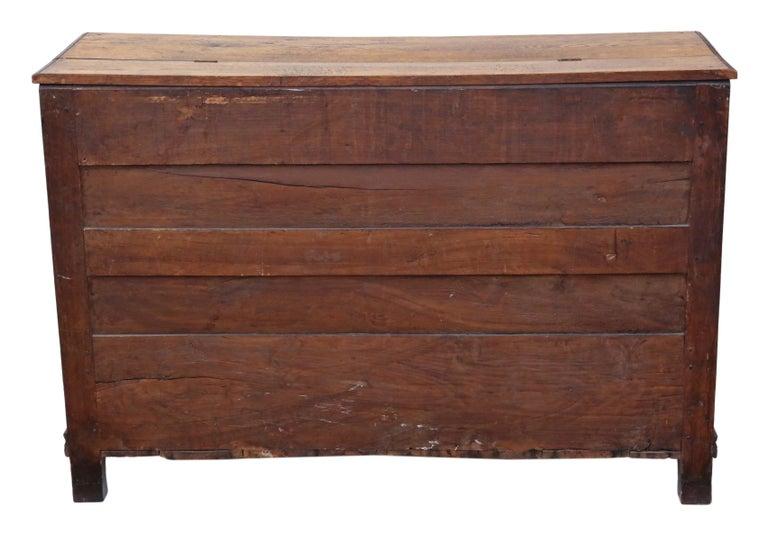 Georgian Oak Coffer or Mule Chest 19th Century For Sale 8