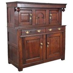Georgian Oak Court Cupboard