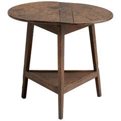 Georgian Oak Cricket Table, England, circa 1780