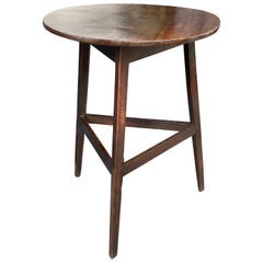 Georgian Oak Cricket Table