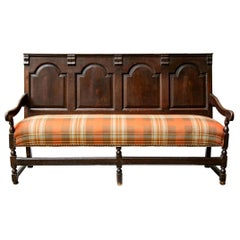 Georgian Oak Settle Bench, circa 1780
