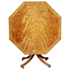 Georgian Octagonal Satinwood Center Table